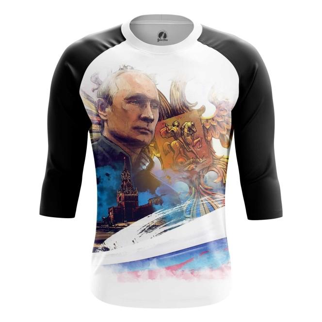 Buy Raglan sleeve mens Vladimir Putin Russian Country Leader Dictator merchandise collectibles