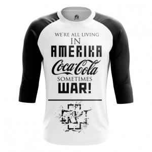 Buy Raglan sleeve mens t shirt Rammstein Merchandise Band Apparel Amerika Merchandise collectibles