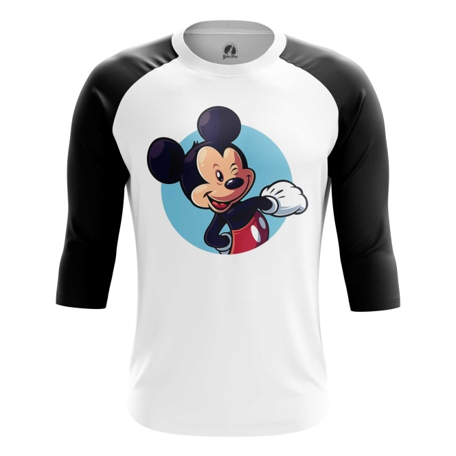 Buy Raglan sleeve mens t shirt Mickey Mouse Disney Merchandise Apparel art Merchandise collectibles