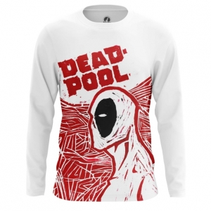 Buy Long sleeve mens t shirt Deadpool Art Painted Picture Cartoon Merchandise collectibles