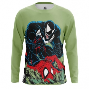 Buy Long sleeve mens t shirt Venom Symbiote Spider man fight merchandise collectibles