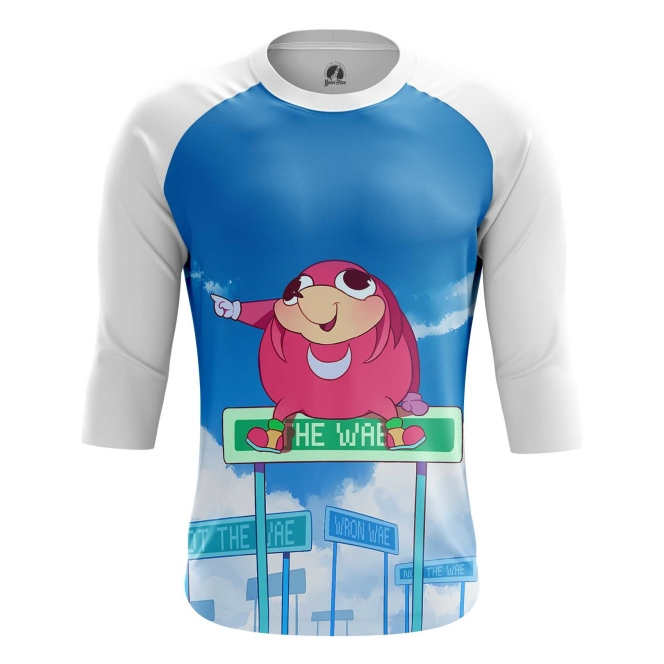 Buy Raglan sleeve mens t shirt Da wei Meme Sonic Web Fun Art merchandise collectibles