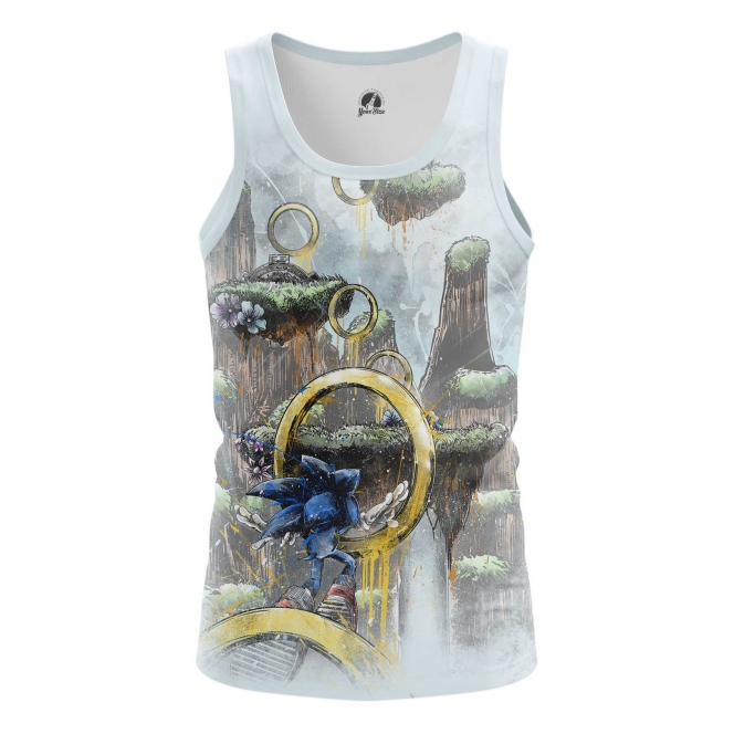 Buy Tank mens t shirt Sonic the hedgehog Rings Game art merchandise collectibles