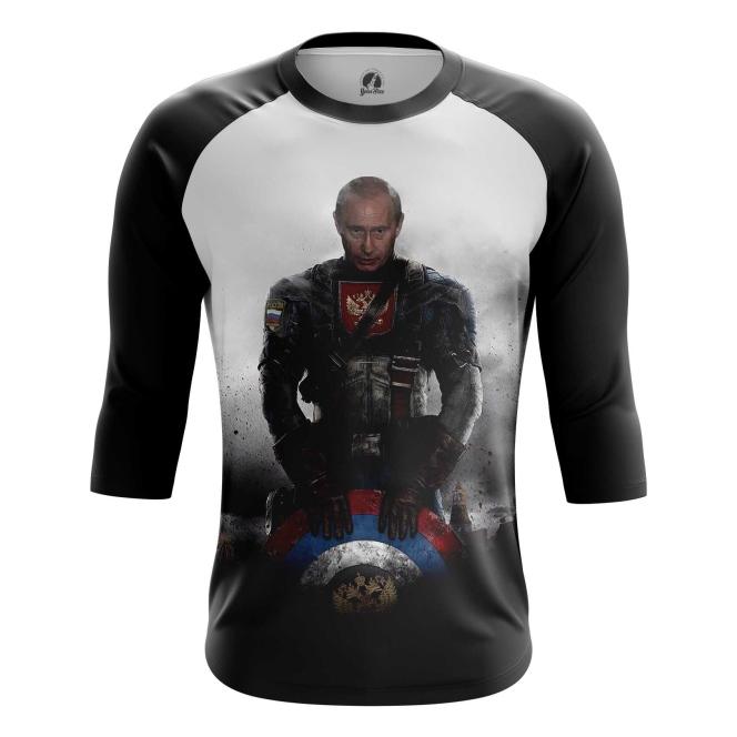 Buy Raglan sleeve mens t shirt Vladimir Putin President Captain Russia Marvel Crossover merchandise collectibles