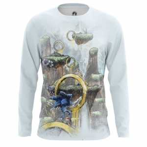 Buy Long sleeve mens t shirt Sonic the hedgehog Rings Game art merchandise collectibles