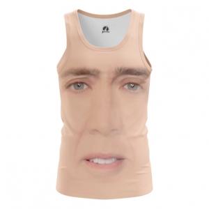 Buy Tank mens t shirt Nicolas Cage Face Art Meme Fun merchandise collectibles