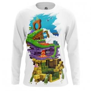 Buy Long sleeve mens t shirt Sonic Sega Levels Sonic's World Universe merchandise collectibles