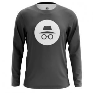 Buy Long sleeve mens t shirt Privacy Mode Incognito Web Fun Art Merch Merchandise collectibles
