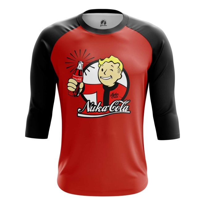Buy Raglan sleeve mens t shirt Nuka Cola Wallpaper Vault Boy Fallout Merchandise collectibles