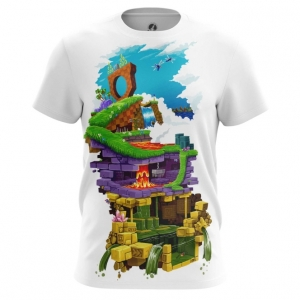 Buy Mens t shirt Sonic Sega Levels Sonic's World Universe merchandise collectibles