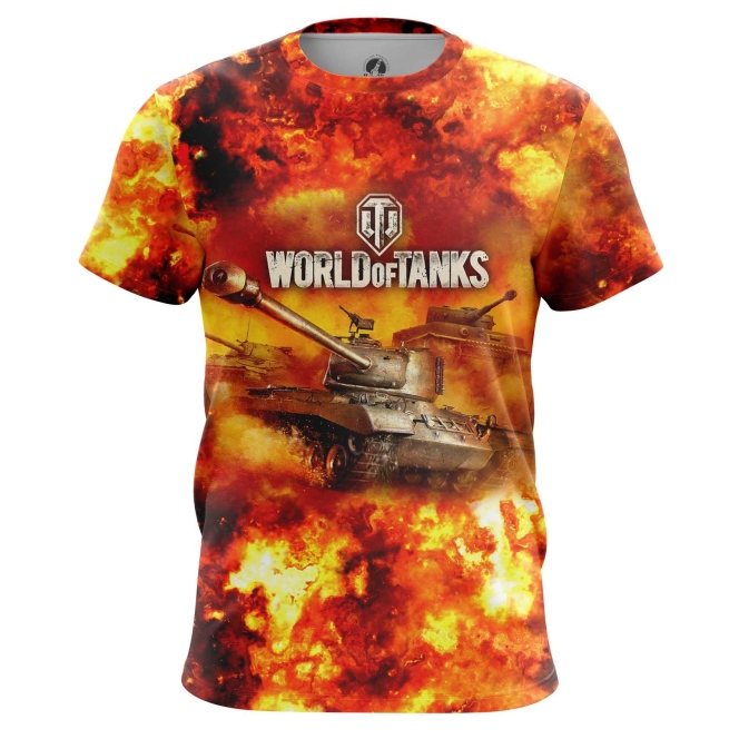 Buy Mens t shirt World of Tanks in Fire Gaming Arcade Merchandise collectibles
