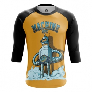 Buy Raglan sleeve mens t shirt UFC machine Bender Futurama Crossover Merchandise collectibles
