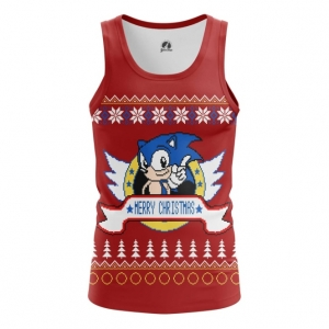 Buy Tank mens t shirt Sonic sonic the hedgehog X mas Christmas Special merchandise collectibles