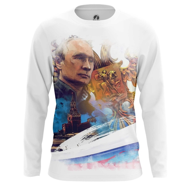 Buy Long sleeve mens t shirt Vladimir Putin Russian Country Leader Dictator merchandise collectibles