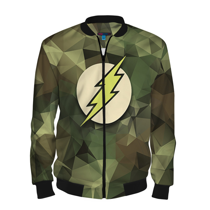 Buy Men's Bomber Jacket The Flash Military Baseball Apparel Merchandise collectibles