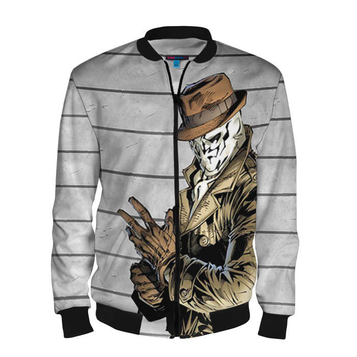 Buy Men's Bomber Jacket Rorschach Watchmen Baseball Apparel Merchandise collectibles