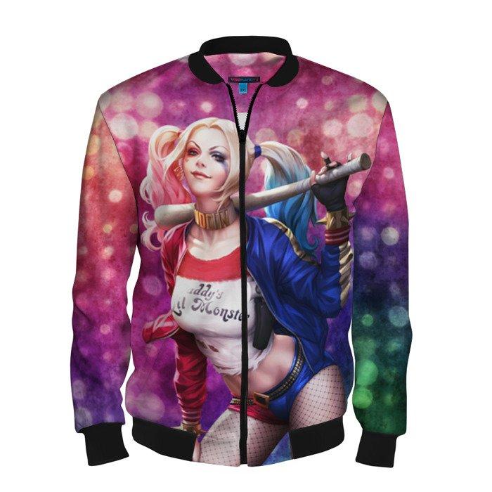 Buy Men's Bomber Jacket Harley Quinn Baseball Apparel merchandise Merchandise collectibles