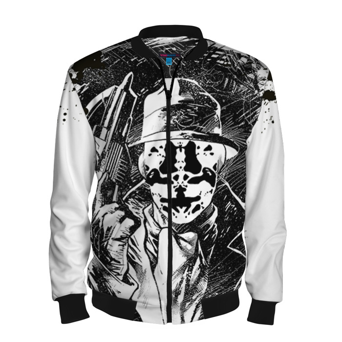 Buy Men's Bomber Jacket Rorschach Watchmen Inspired Baseball Apparel Merchandise collectibles