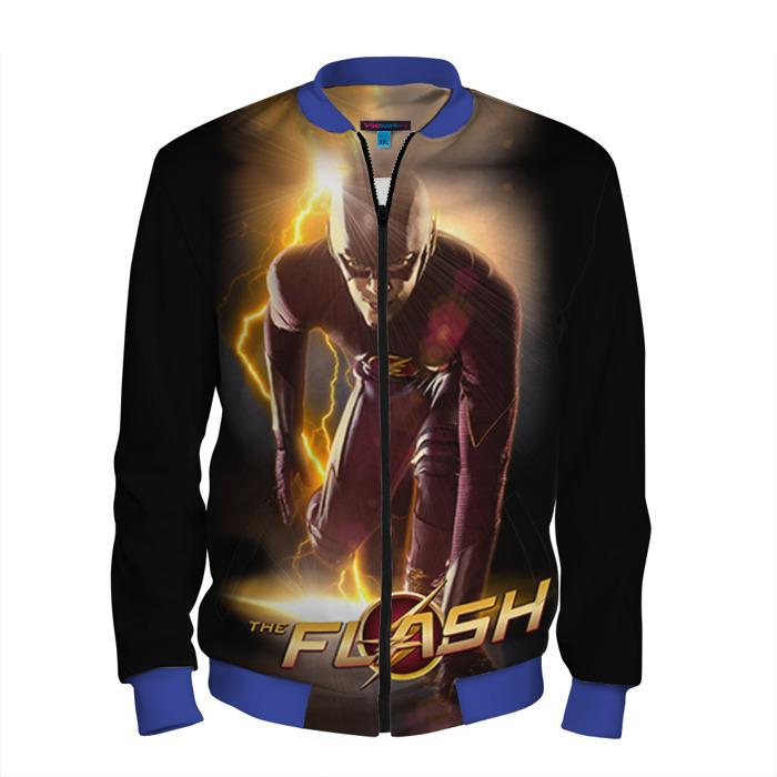 Buy Men's Bomber Jacket Flash CW TV Serial Baseball Apparel Merchandise collectibles