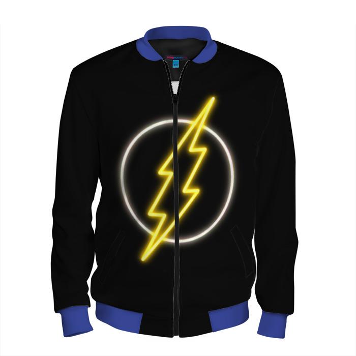 Buy Men's Bomber Jacket Flash Neon Baseball Apparel merchandise Merchandise collectibles