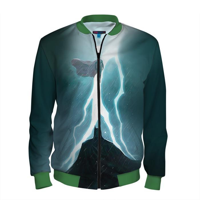 Buy Men's Bomber Jacket Batman vs Superman Battle Art Merchandise collectibles