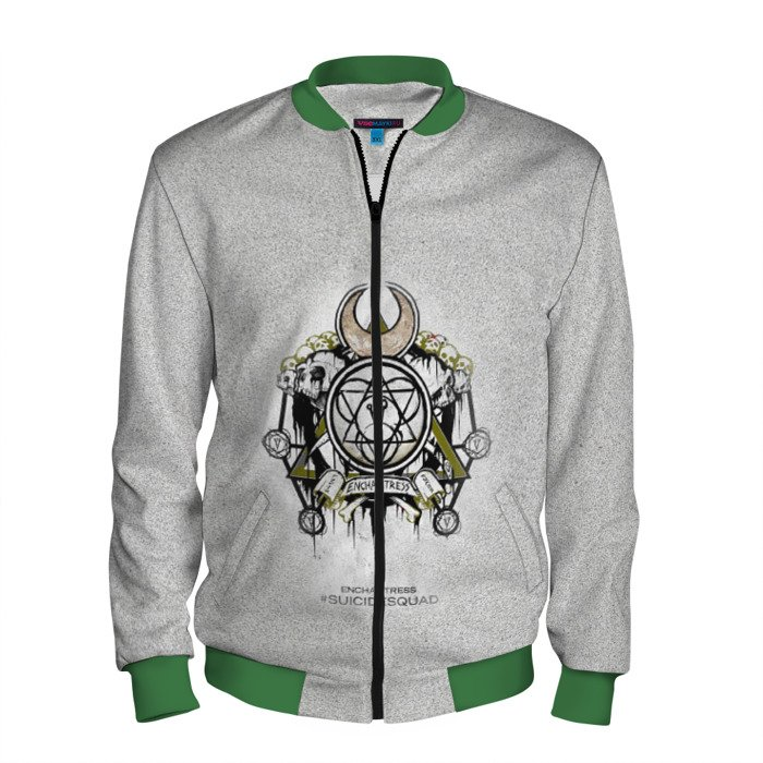 Buy Men's Bomber Jacket Enchantress Suicide Squad Merch Merchandise collectibles