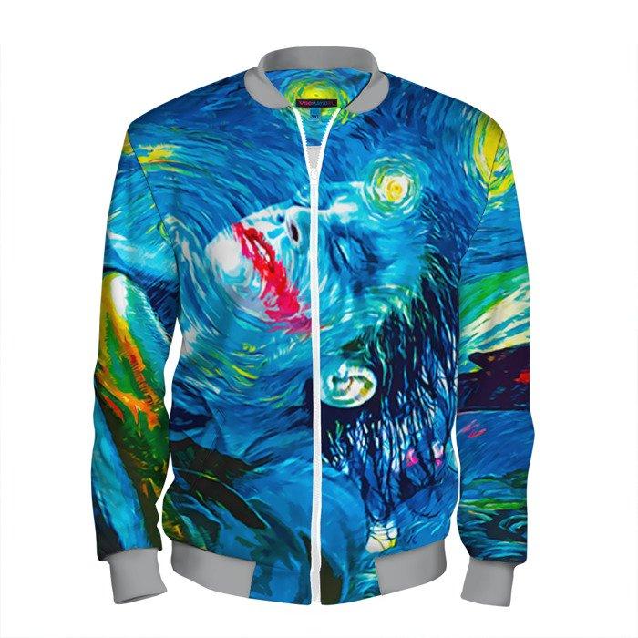 Buy Men's Bomber Jacket Joker Van Gogh Baseball Apparel merchandise Merchandise collectibles