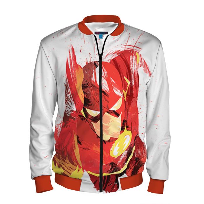 Buy Men's Bomber Jacket The Flash Baseball Apparel merchandise Merchandise collectibles