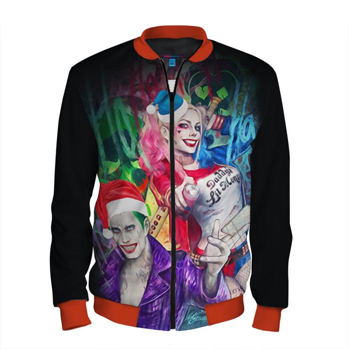 Buy Men's Bomber Jacket Harley Joker Christmas Suicide Squad Merchandise collectibles