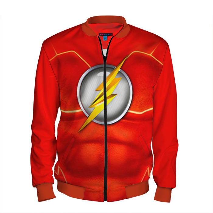Buy Men's Bomber Jacket The Flash Logo Symbol Baseball Apparel Merchandise collectibles