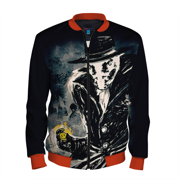 Buy Men's Bomber Jacket Watchmen Rorschach Baseball Apparel Merchandise collectibles
