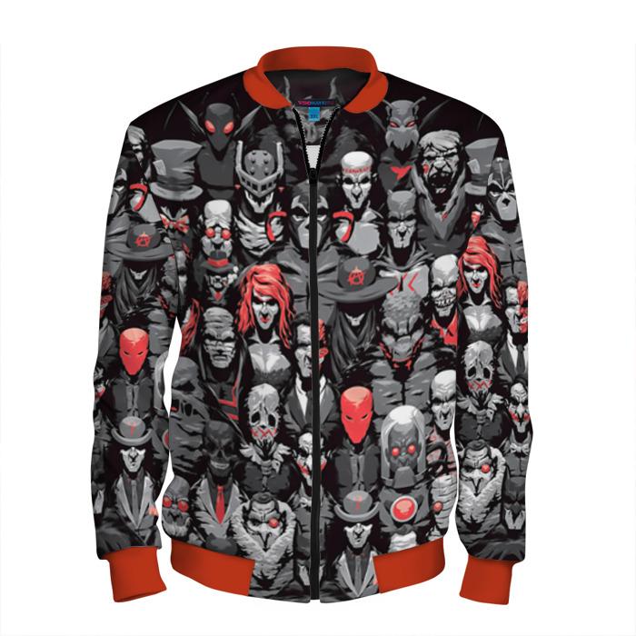 Buy Men's Bomber Jacket Batman Univers Villains Baseball Apparel Merchandise collectibles