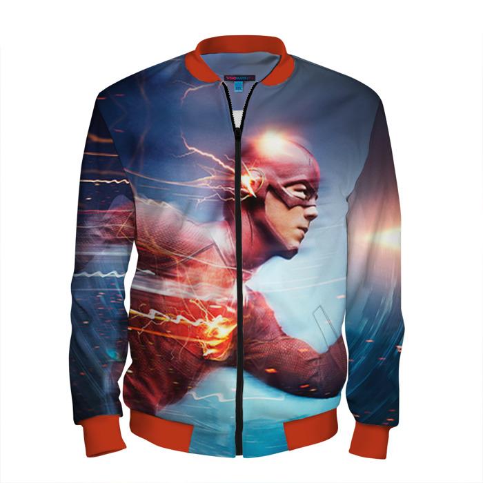 Buy Men's Bomber Jacket The Flash Motion Baseball Apparel merchandise Merchandise collectibles