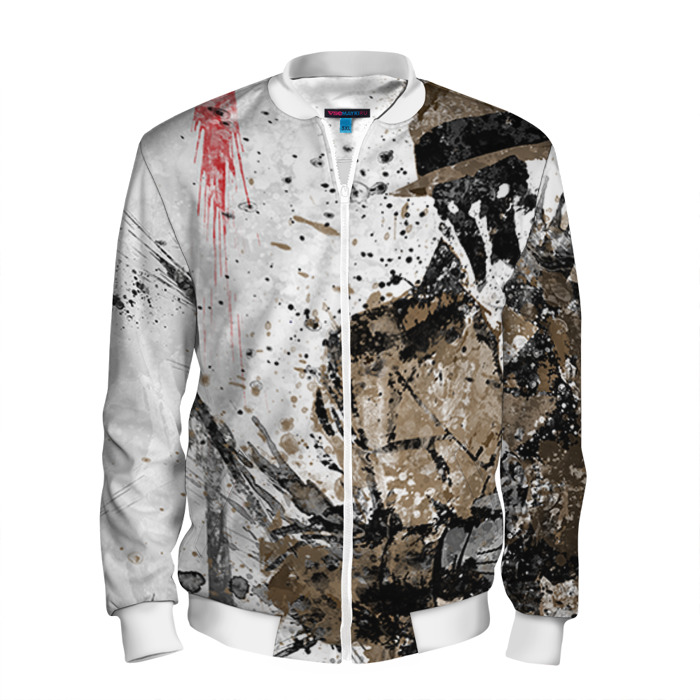 Buy Men's Bomber Jacket Rorschach Watchmen Fan Art Baseball Apparel Merchandise collectibles