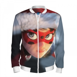 Buy Men's Bomber Jacket Christmas Tales of Ladybug & Cat Noir Merchandise collectibles