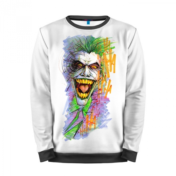 4a54813a26b8 Full Print Sweatshirt Joker Merchnadise Suicide Squad Art.  people 3 mansmockfull front black 700. people 3 mansmockfull front black 700
