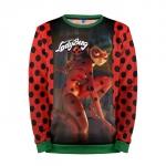 Merchandise Sweatshirt Ladybug &Amp; Cat Noir Art Red