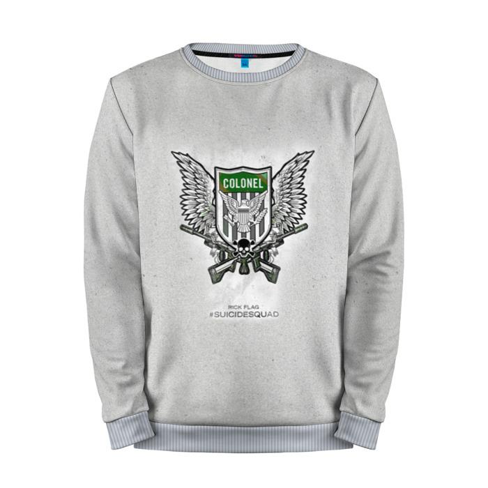 Buy Full Print Sweatshirt Rick FLag Grey Logo Suicide Squad Movie Merchandise collectibles