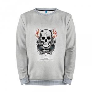 Buy Full Print Sweatshirt El Diablo Grey Logo Suicide Squad Movie Merchandise collectibles