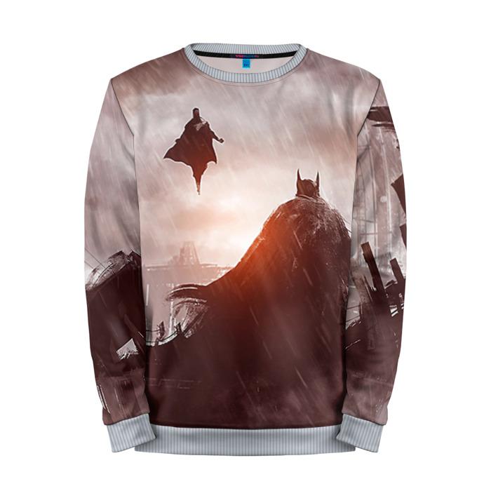 Buy Full Print Sweatshirt Dawn of Justice Apparel Batman Superman Merchandise collectibles