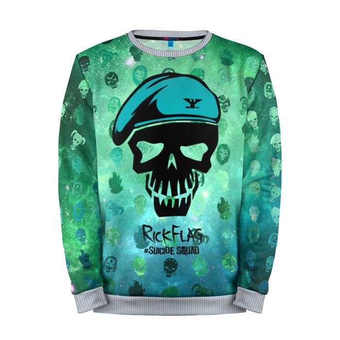 Buy Full Print Sweatshirt Suicide Squad Rick Flag Merch Merchandise collectibles