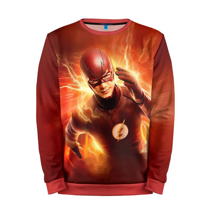 Buy Full Print Sweatshirt The Flash TV Version Barry Allen Merch Merchandise collectibles