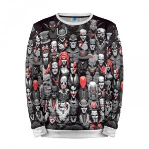 Buy Full Print Sweatshirt Batman All Villains DC Universe Merchandise collectibles