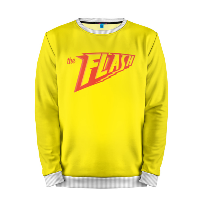 Buy Full Print Sweatshirt The Flash Yellow Red Title Sign Merchandise collectibles