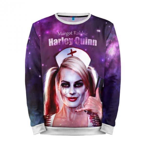 c7f5a3f65820 Full Print Sweatshirt Harley Quinn Inspired Art Suicide Squad.  people 3 mansmockfull front white 700. people 3 mansmockfull front white 700