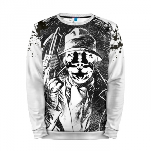 Buy Full Print Sweatshirt Rorschach Black and White Styled Watchmen Merchandise collectibles