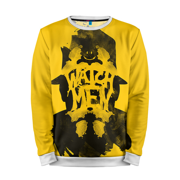 Buy Full Print Sweatshirt Rorschach Watchmen yellow Noir comic Merchandise collectibles
