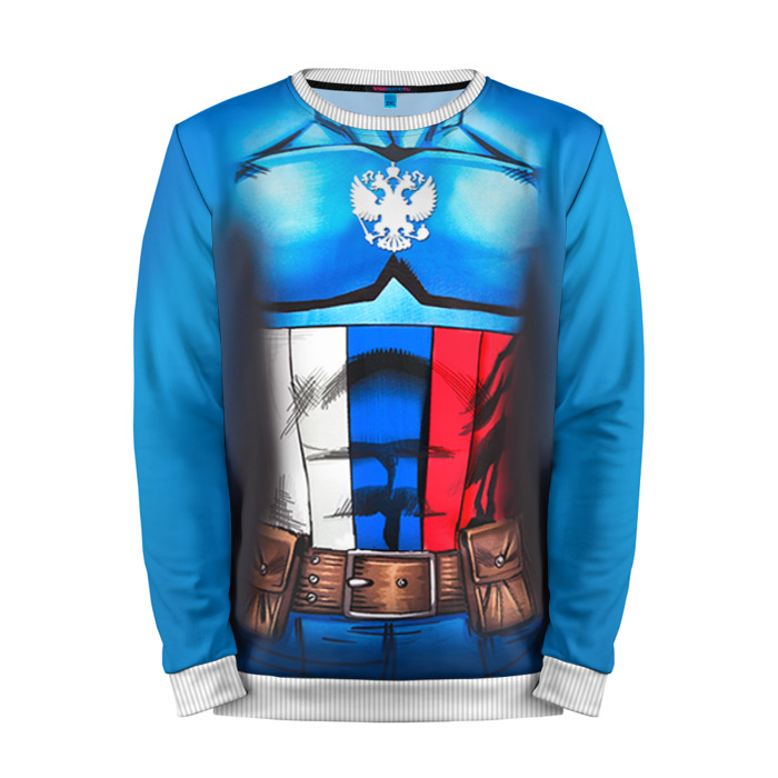 Buy Full Print Sweatshirt Captain Russia Crossover Russian Federation Merchandise collectibles