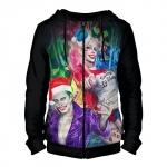 Merch - Zipper Hoodie Harley Joker Christmas Suicide Squad