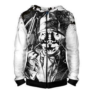 Buy Zipper Hoodie Inspired Rorschach Watchmen Hood Apparel Merchandise collectibles